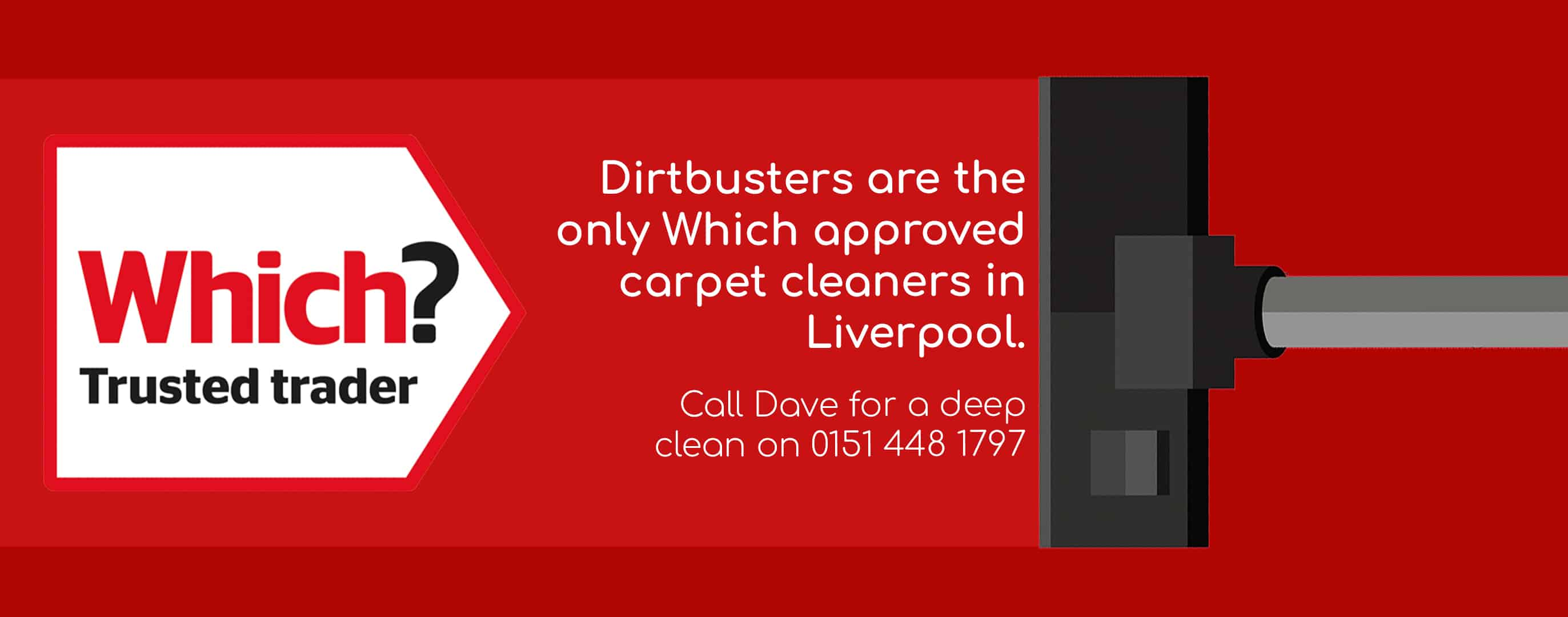 Which approved Dirtbusters Ltd Liverpool, Wirral & Warrington carpet cleaners